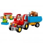 デュプロのトラクターは いっぱいブロックが載せて遊べます!