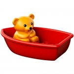 お風呂に浮かべて遊べる デュプロ! かわいいクマさんと遊ぶならコレで決まり!