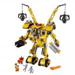 エメットが黄色いロボットに乗って反撃だ!